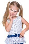белокурая маленькая девочка — Стоковое фото