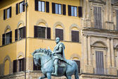 Equestrian statue of Cosimo de Medici — Stock Photo