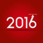 Gott nytt år 2016 — Stockvektor
