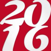 Frohes neues jahr 2016 — Stockvektor
