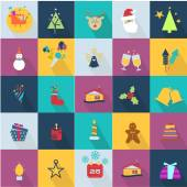 Christmas icons se — Stock Vector
