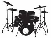 Drum setting — Stock Vector