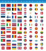 Europe Flags Set — Stock Vector