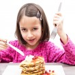 Eating pancake — Stock Photo #66134451