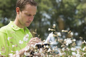 Enviromental scientist researching the environment and natural d — ストック写真