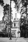 Orthodox Church in Jurmala, black and white — Stock Photo