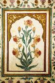 Decoration of precious stones, Taj Mahal walls — Stock Photo