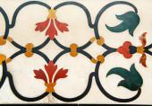 Decoration of precious stones, Taj Mahal walls — Fotografia Stock