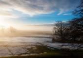Frosty sunny winter morning in Scotland — Stockfoto