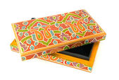 Indian lacquered rectangular box for jewel — Stock Photo
