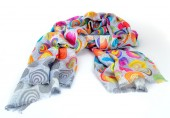 Colorful motley indian scarf isolated — Stock Photo