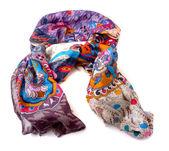 Fashionable female scarf isolated on white — Stock Photo