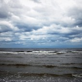 Cloudy Baltic sea — Stock Photo