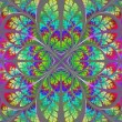 Multicolor fabulous fractal pattern. Collection - tree foliage.  — Stock Photo #52108995
