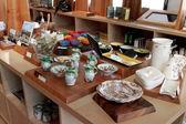 MARSEILLE, FRANCE - CIRCA JULY 2014: Sale souvenir crockery in a — Stock Photo