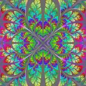 Multicolor fabulous fractal pattern. Collection - tree foliage.  — Stock Photo