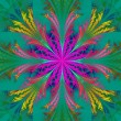 Beautiful multicolor fractal flower. Collection - frosty pattern — Stockfoto