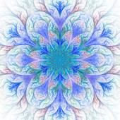 Beautiful fractal flower in blue. Computer generated graphics. — Stock Photo