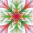 Beautiful multicolor fractal flower. Collection - frosty pattern — Stock Photo #53875415