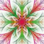 prachtige veelkleurige fractal bloem. collectie - frosty patroon — Stockfoto #53875415