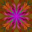 Beautiful multicolor fractal flower. Collection - frosty pattern — Stock Photo #53875529