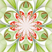Fabulous symmetrical pattern of the leaves. Computer generated g — Stock Photo