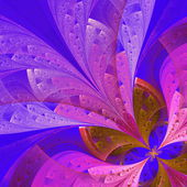 Beautiful fractal flower in blue and pink. Computer generated gr — Stock Photo