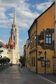 BUDAPEST - JUNE 27: View to Matthias Church in the Castle Distri — Stock Photo