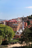 BARCELONA, SPAIN - JULY 8: The famous Park Guell on July 8, 2014 — Stock Photo