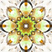 Symmetrical fractal pattern with shiny strips. Collection -  rhi — Stock Photo