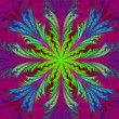 Beautiful multicolor fractal flower. Collection - frosty pattern — Stock Photo #55166267