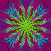 Beautiful multicolor fractal flower. Collection - frosty pattern — Stock Photo