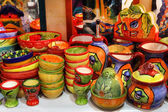 BARCELONA, SPAIN - JULY 8, 2014: Barcelona souvenirs at counter — Stock Photo