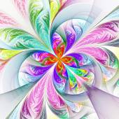 Diagonal symmetric multicolored fractal tracery. Collection - fr — Stock Photo