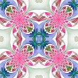 Fabulous symmetrical pattern of the petals. Pink, blue and green — Stock Photo #58512213