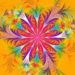 Beautiful multicolored fractal flower. Collection - frosty patte — Foto de Stock   #61537051