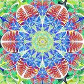 多彩多姿的树叶的对称图案。收藏-tre — 图库照片