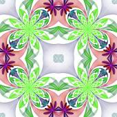 Fabulous symmetrical pattern of the petals. Green and purple pal — Stock Photo