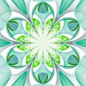 Fabelhafte symmetrische Muster der Blätter. computergenerierte g — Stockfoto