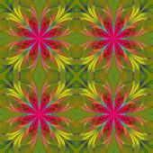 Beautiful pattern from fractal flowers. Pink and yellow palette. — Stock Photo