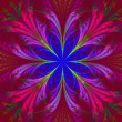 Beautiful multicolor fractal flower. Collection - frosty pattern — Stock Photo #63475065