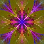 Vackra multicolor fraktal blomma. kollektion - frosty mönster — Stockfoto