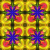 Beautiful symmetrical pattern of the flower petals in fractal de — Stock Photo