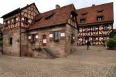 NURNBERG, GERMANY - JULY 13 2014. Houses in Imperial Castle Nure — Photo