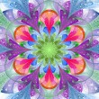 Symmetrical pattern in stained-glass window style. Pink, blue, p — Stock Photo #66467841