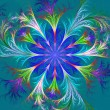 Beautiful multicolored fractal flower. Collection - frosty patte — Fotografia Stock  #67029067