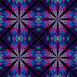 Symmetrical pattern in stained-glass window style. Blue and pink — Stock Photo #69090577