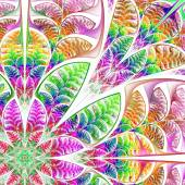Diagonal symmetrical multicolored pattern of the leaves. Collect — Stock Photo