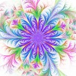 Beautiful multicolored fractal flower. Collection - frosty patte — Stock Photo #69471543