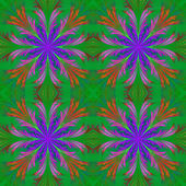 Beautiful pattern from fractal flowers. Blue and green palette. — Stock Photo
